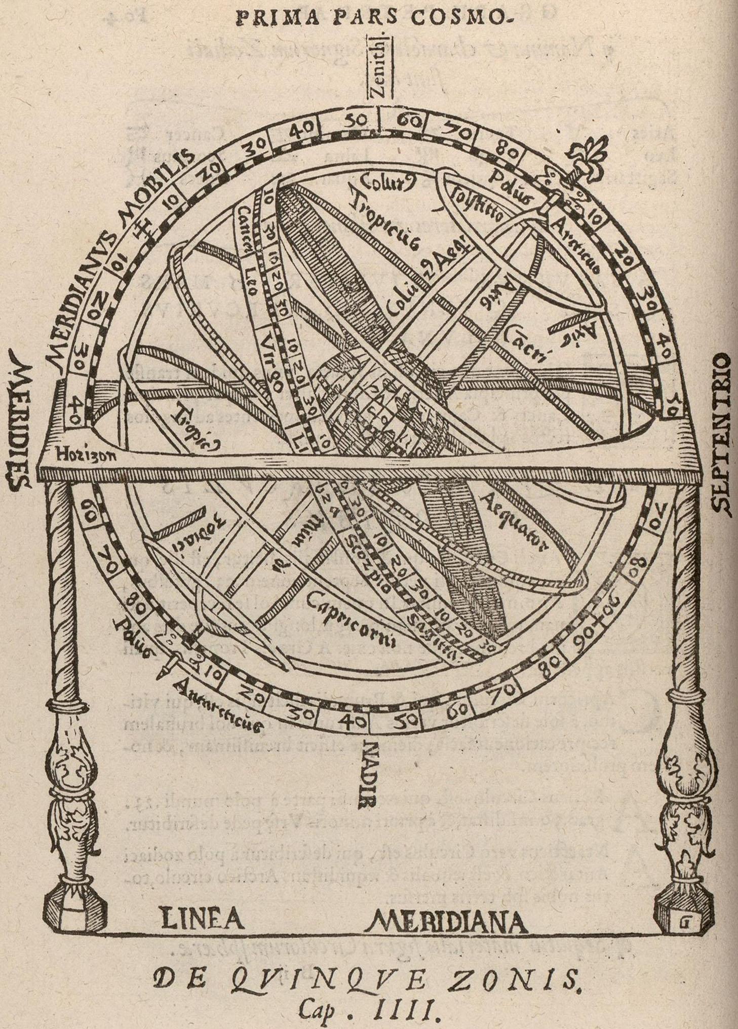 Sphère armillaire, Fo. 4v