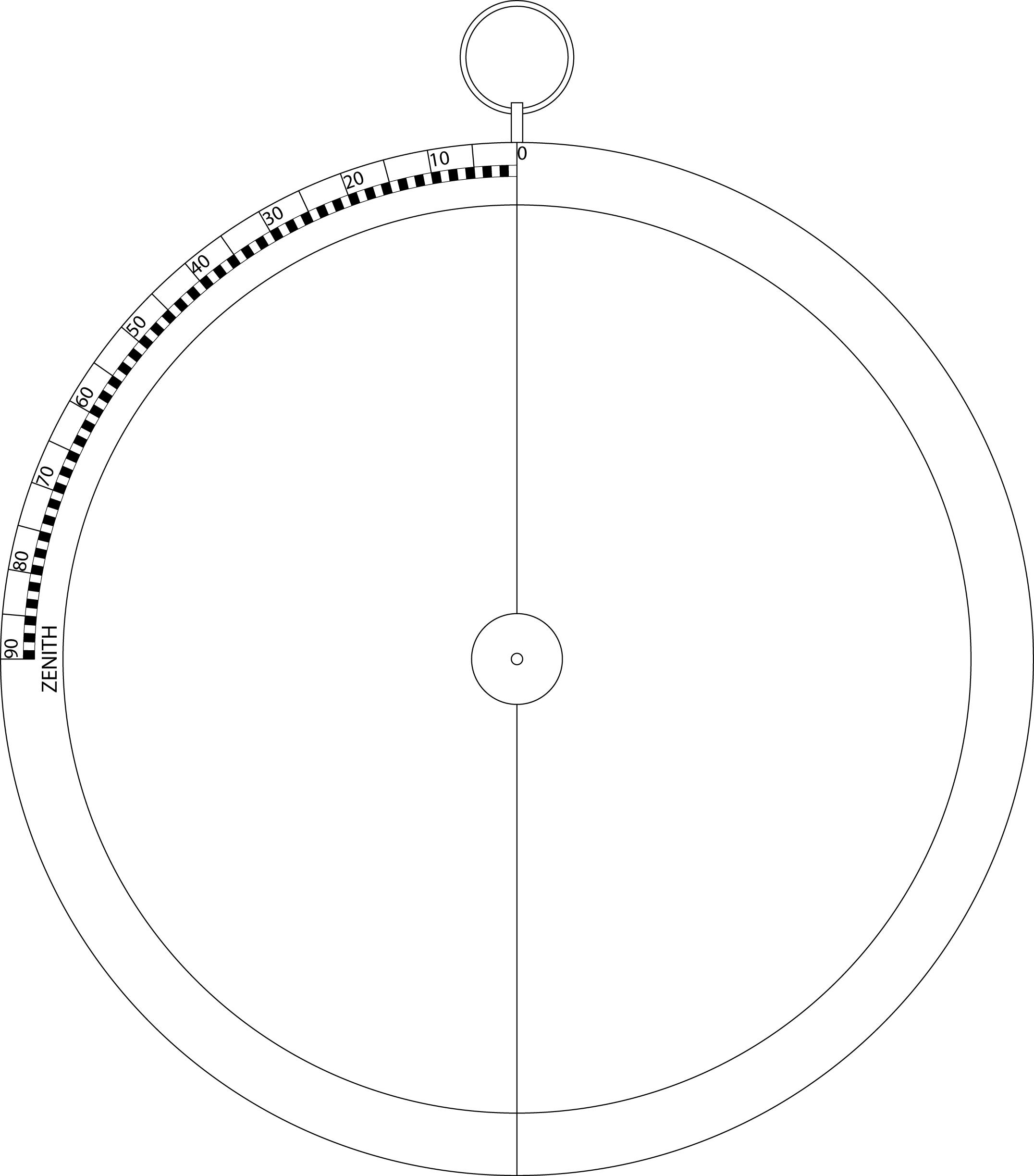 Patron de la volvelle «sphère plate universelle» (1/4 )