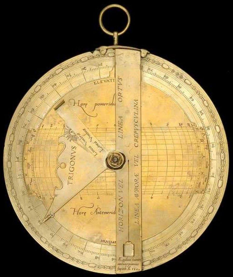 Sphère plate en laiton, Gillis Coignet, 1560