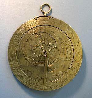 Astrolabe terrestre en laiton