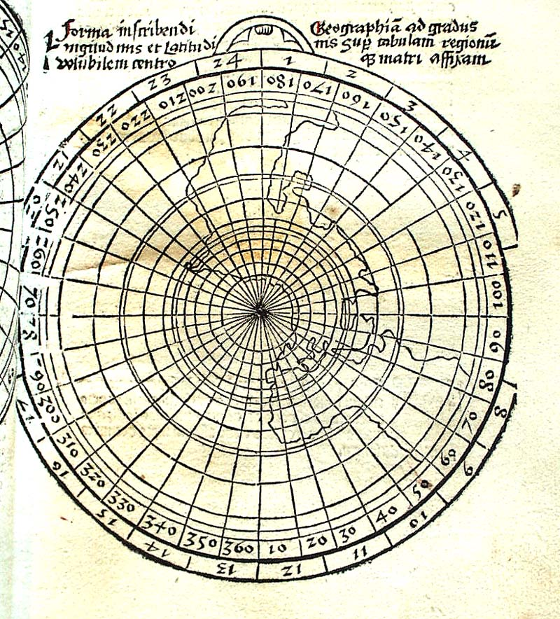 Projection du monde de Ptolémée