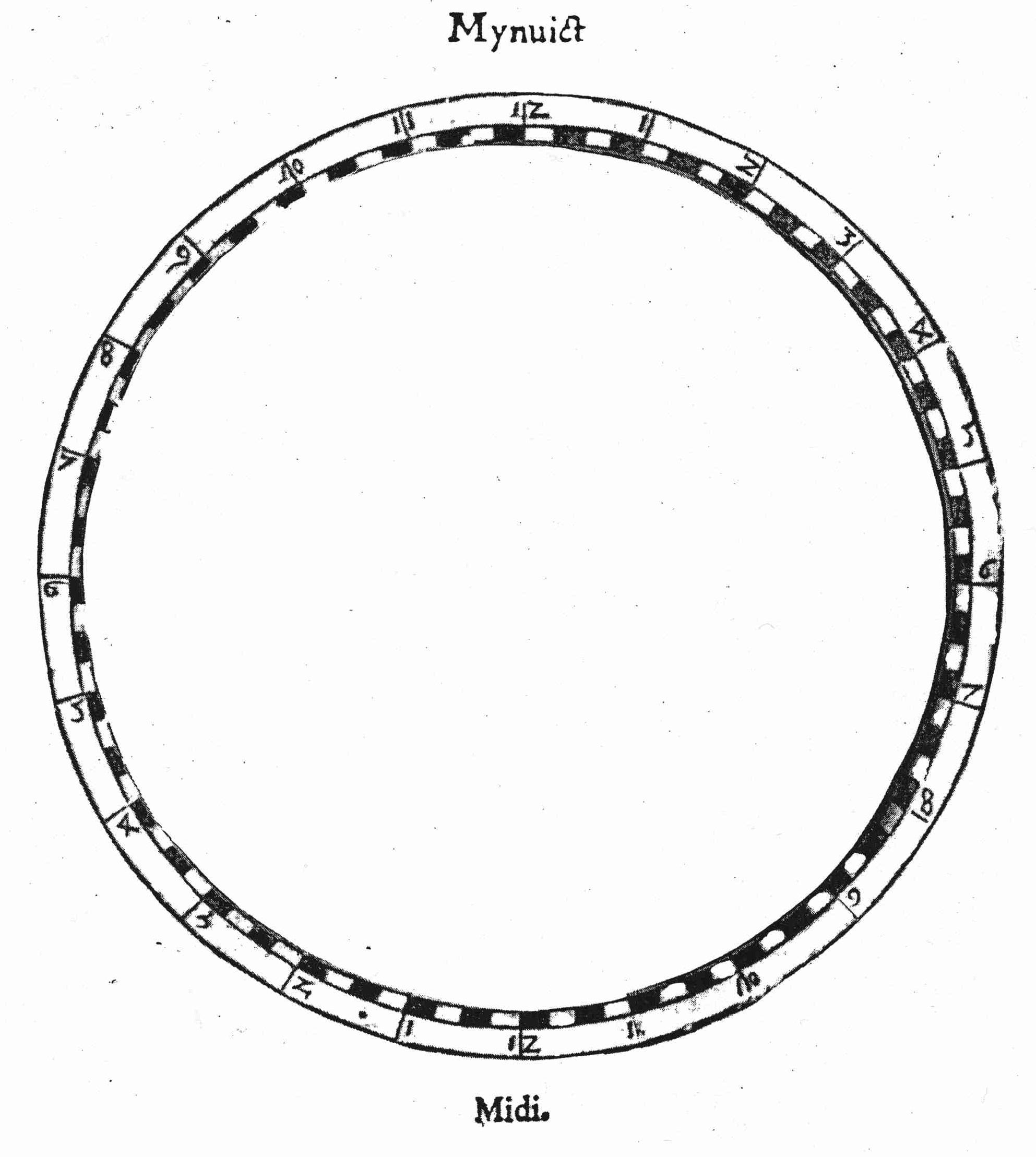 Patron de la volvelle «miroir du monde» (Pièce 1/5)