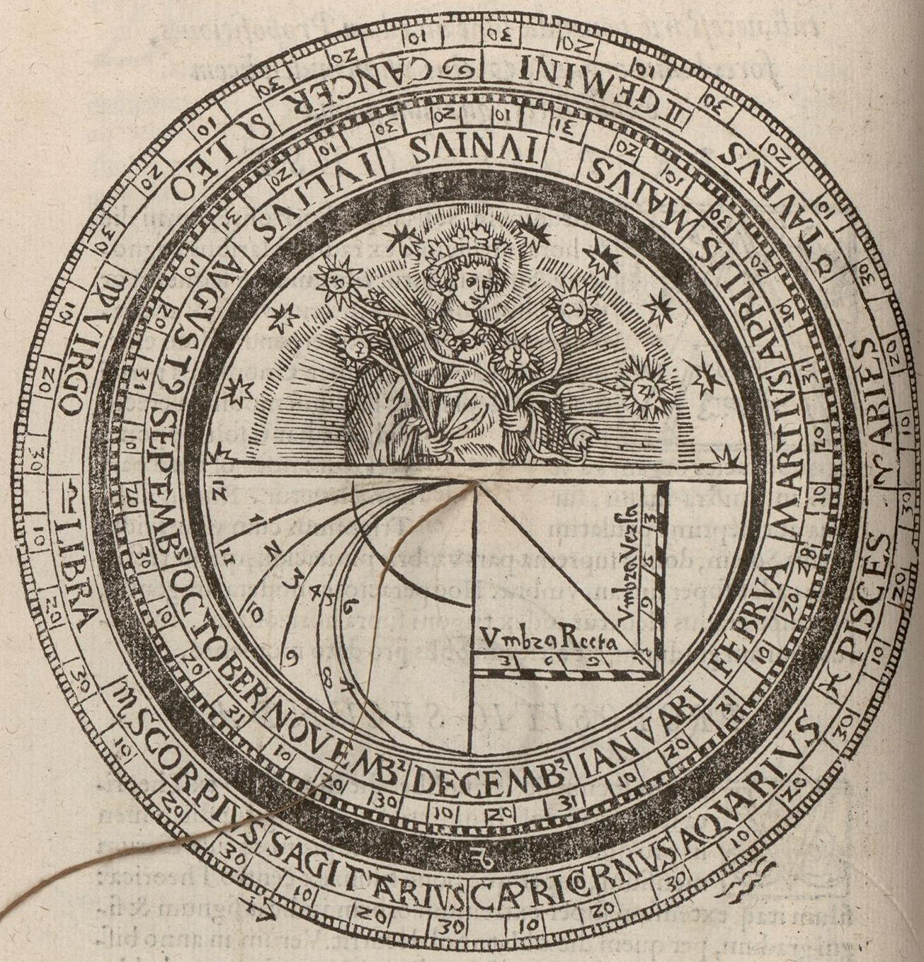 Description de la volvelle « calendriers» Fo. 9v