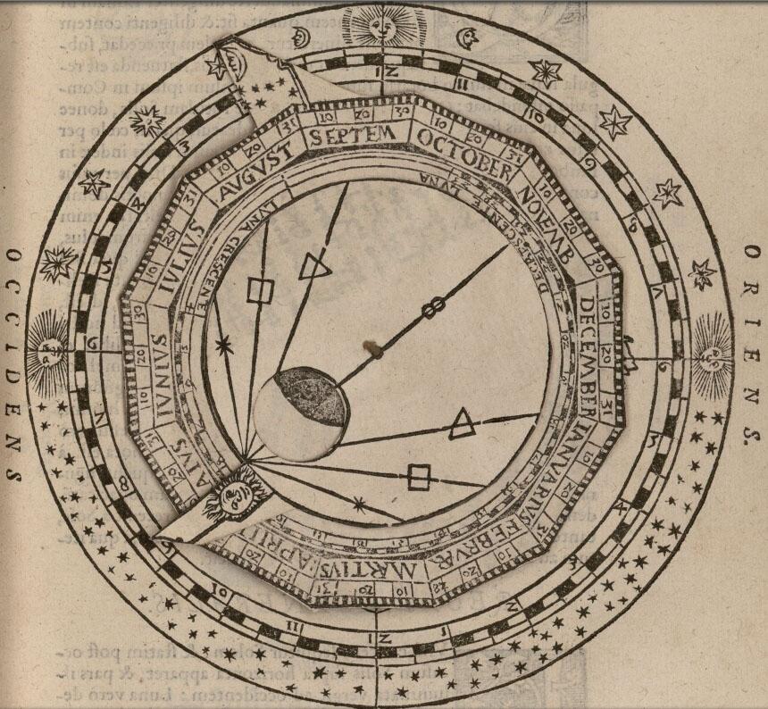 Volvelle «cadran nocturne», Fo. 49r