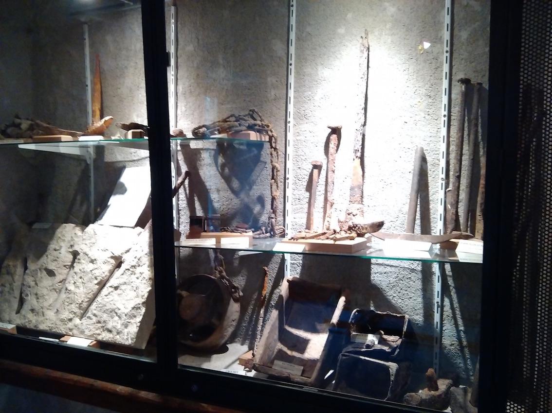 le petit musée de la mine d'Argentière.