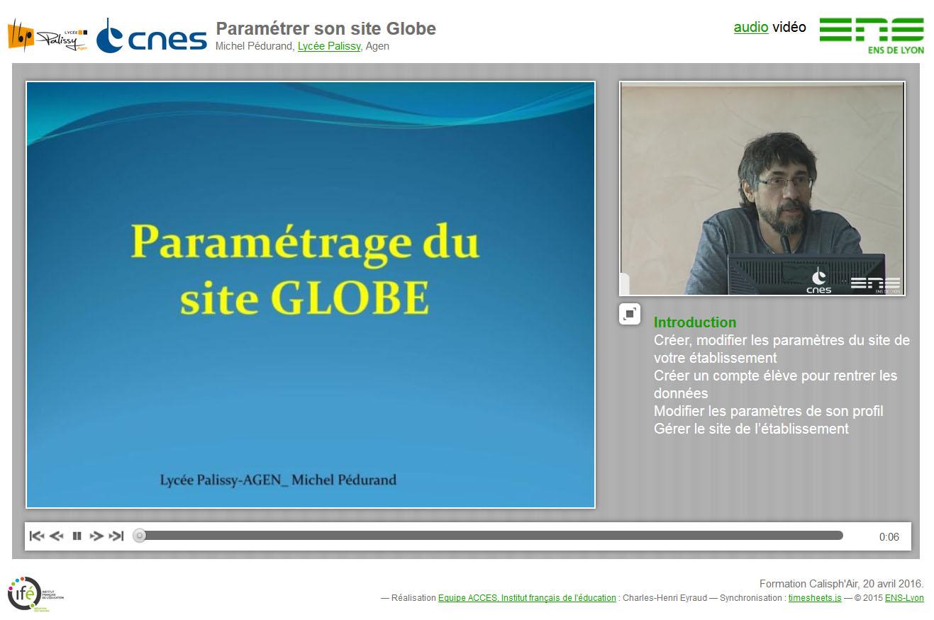 """La conférence synchronisée """"Paramétrage du site Globe"""""""
