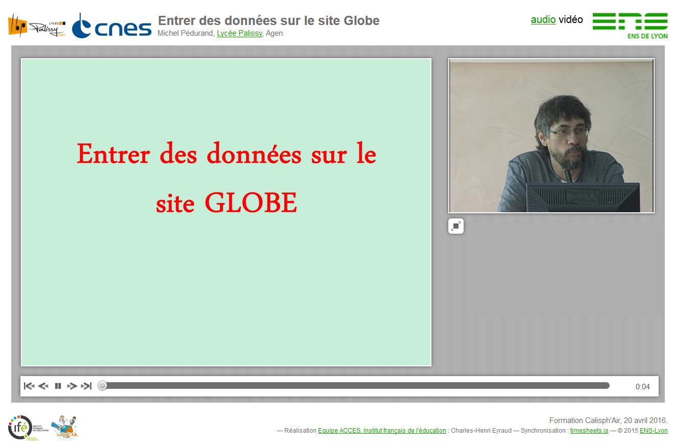 """La conférence synchronisée """"Entrer des données sur le site Globe"""""""