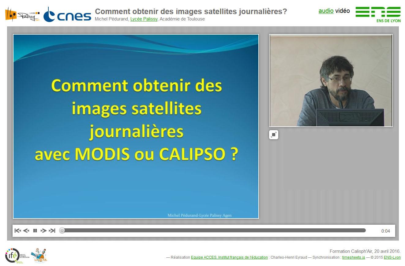 """La conférence synchronisée """"Comment obtenir des images satellites journalières?"""""""