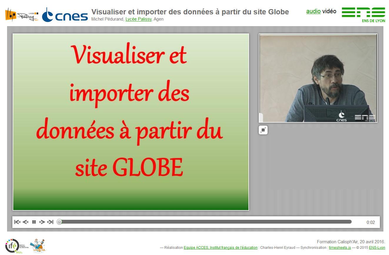"""La conférence synchronisée """"Visualiser et importer des données à partir du site Globe"""""""