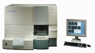 un cytomètre de flux : exemple de l'appareil FACSCalibur