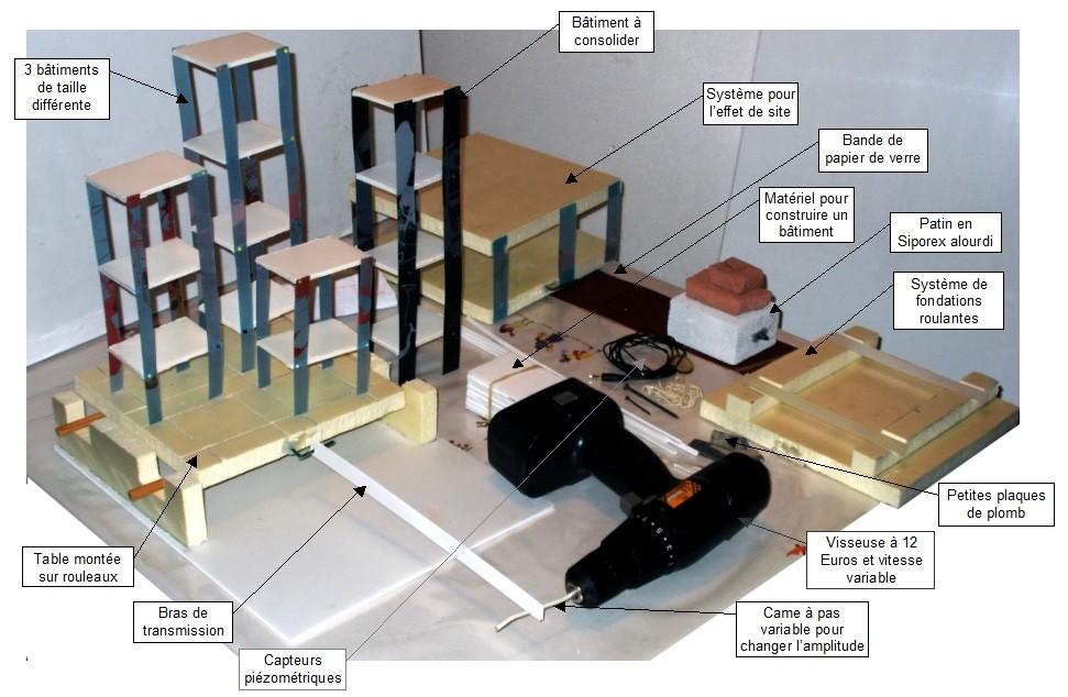 Matériel permettant de faire plusieurs expériencesde sismologie pour moins de 15€