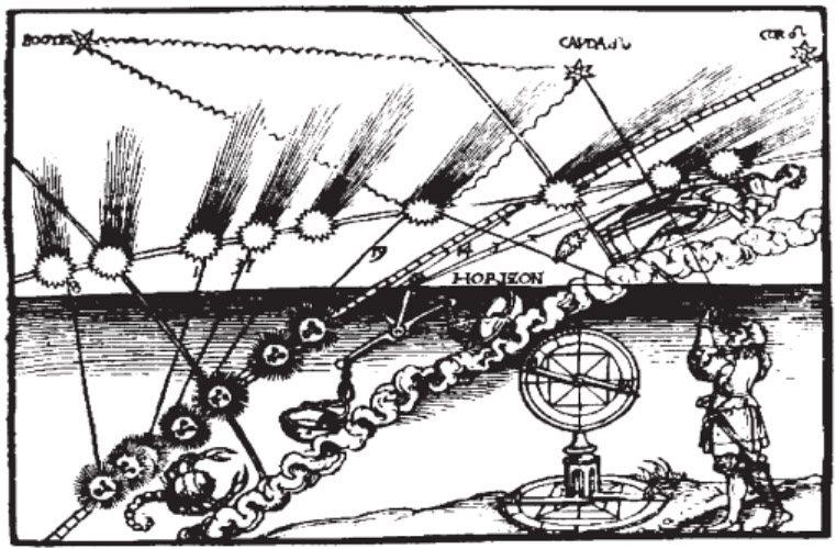 Représentation de comète par Apian