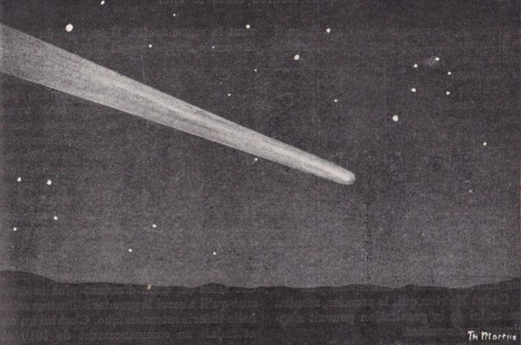 La grande comète de 1843 (dans l'Astronomie Populaire de Camille Flammarion)