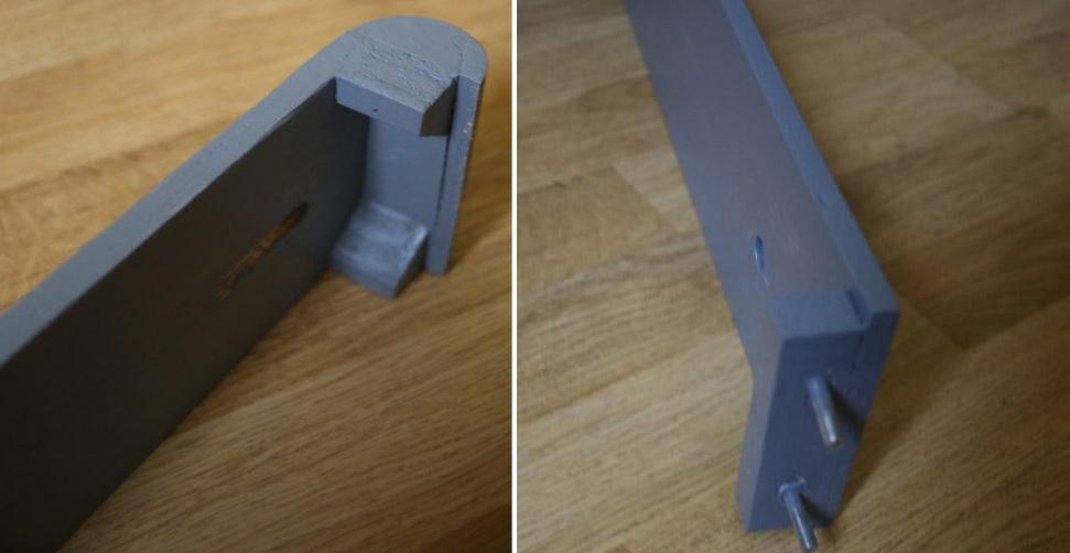 Réalisation pratique de la partie inférieure du bras rotatif