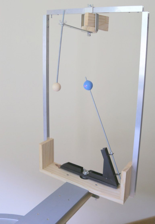 Module monté sur le bras rotatif de la maquette.