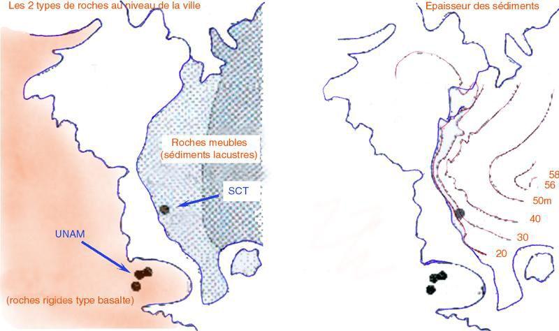 Cartes du séisme de Mexico de 1985
