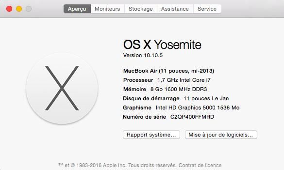 À propos de ce Mac.