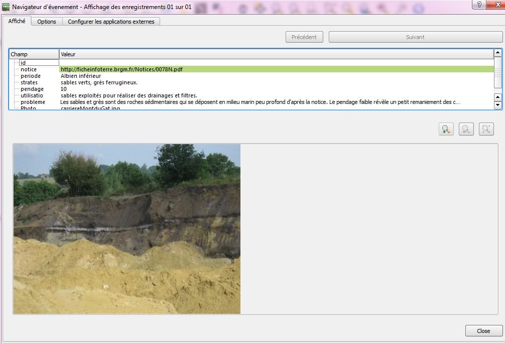 informations sur la couche Mont du Gât avec eVis