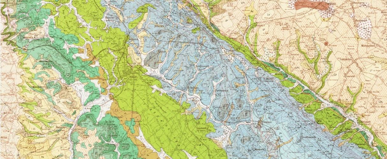 Extrait de la carte géologique de Forges les eaux fourni aux élèves