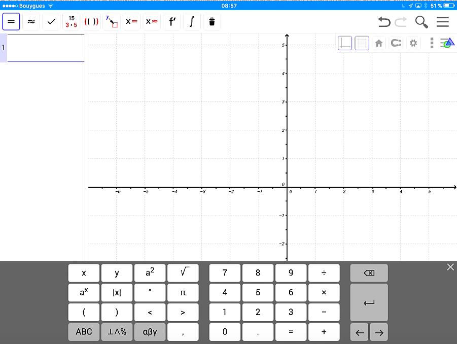 Geogebra sur iPad Mini