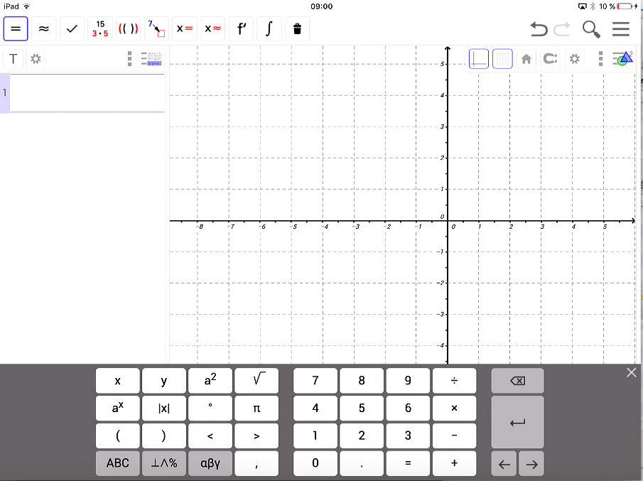 Geogebra sur iPad