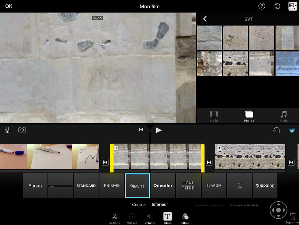 iMovie : des aides contextuelles