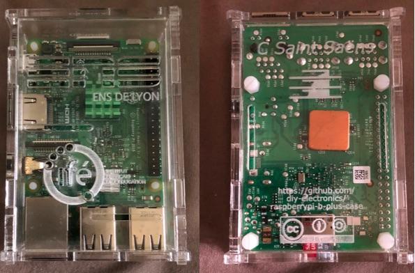 L'aspect de la RaspberryPi3 Tremplin Nue.