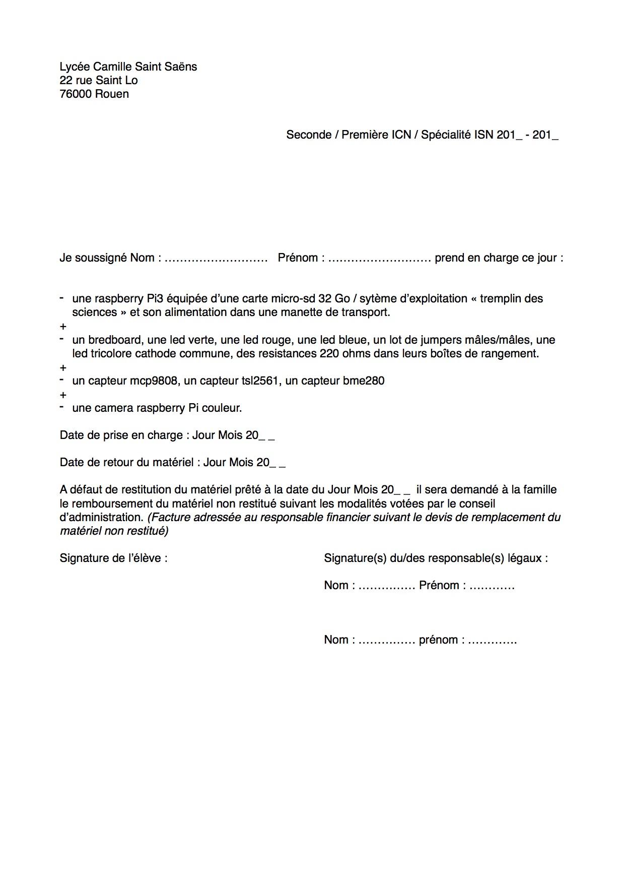 Exemple de formulaire