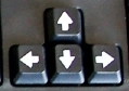 les touches de direction clavier