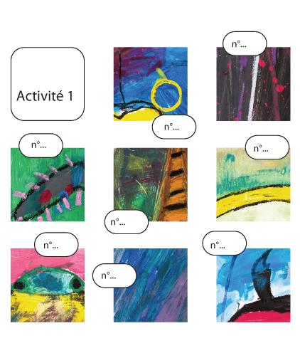 Insectes... Peintures expressives : Exemple 1 d'activité