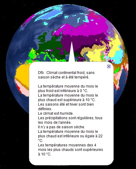 Climats observés et bulle d'information