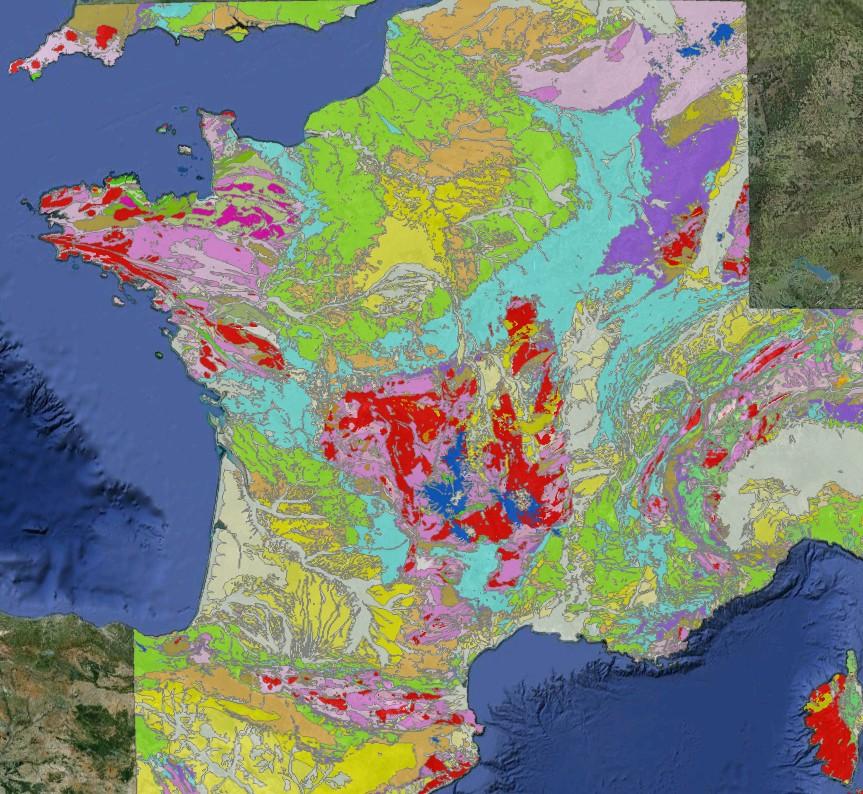 Carté géologique de la France