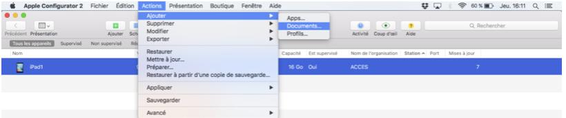 Figure 20: Importation de document