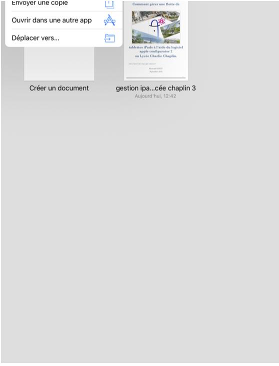 Figure 25: Choix du fichier à exporter