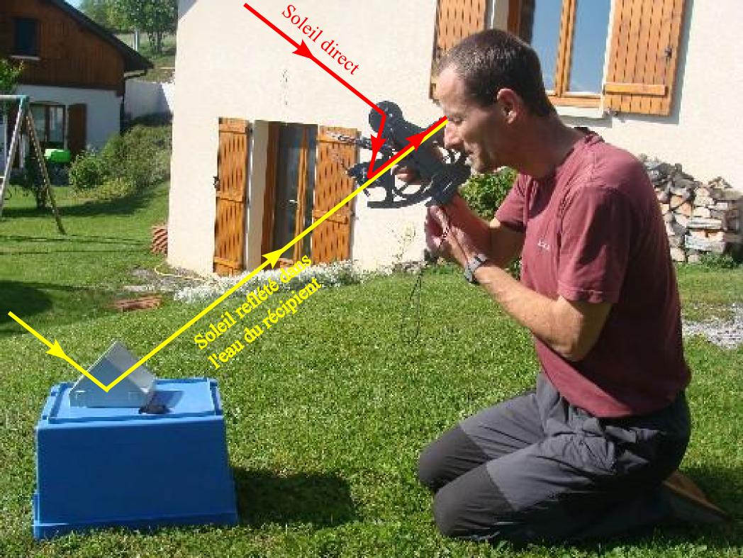 L'utilisation du sextant à terre